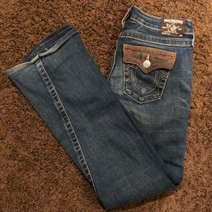 Low-rise, flares True Religion jeans